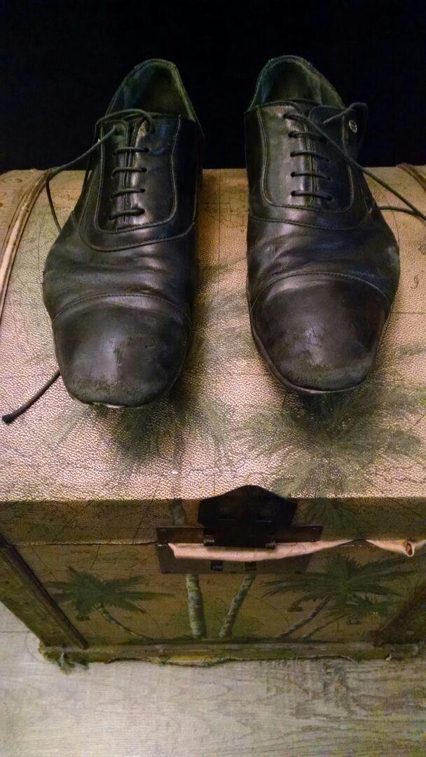 Men's Shoe Shine - Before
